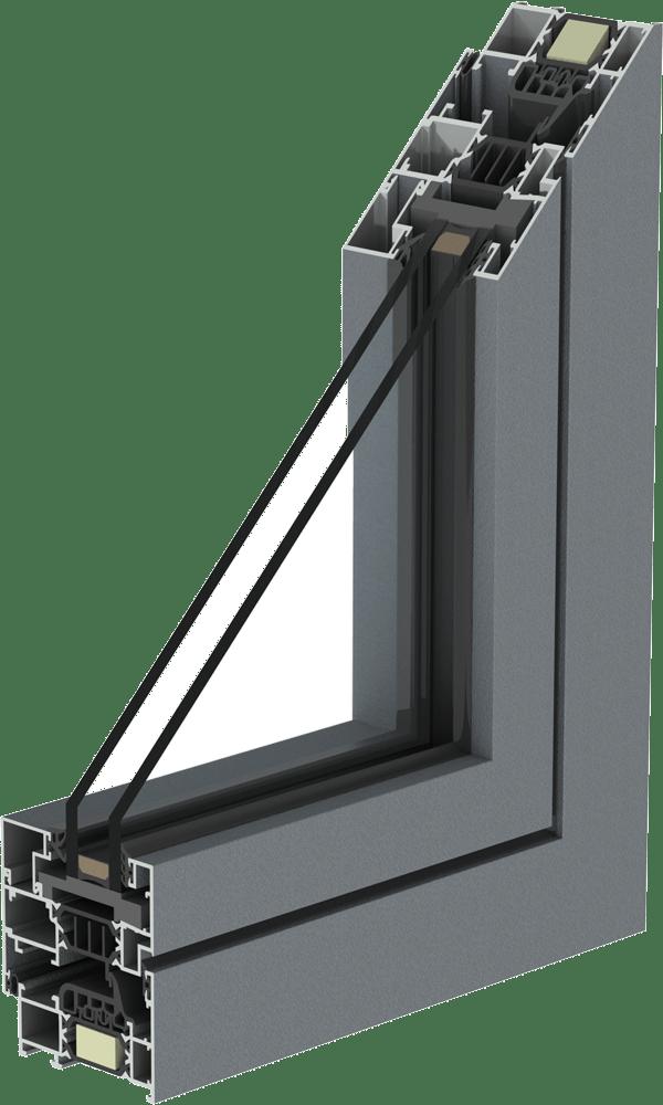 IT Finestre Alluminio COR 70 RAL 7001 TD Mirano Infissi 1